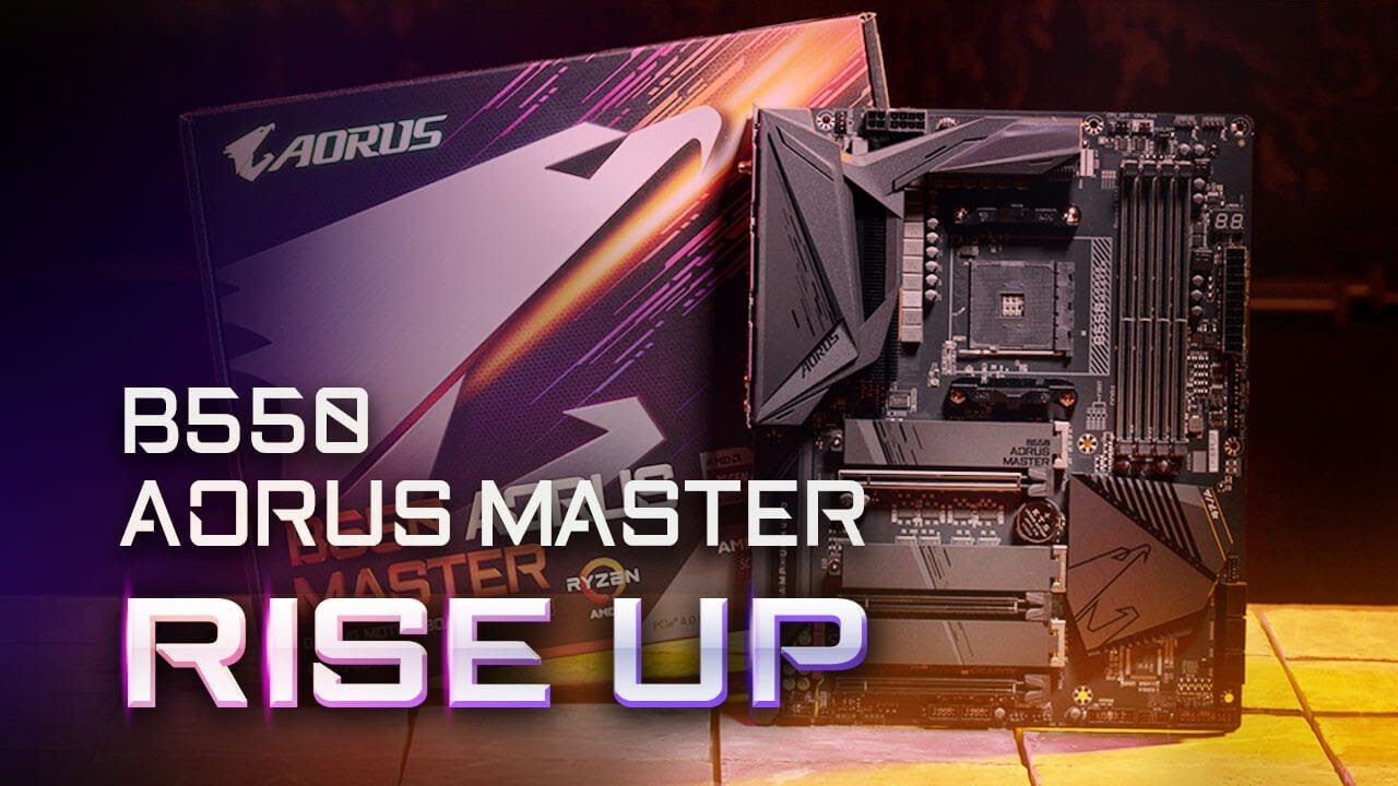 B550 Aorus Master Rise Up Youtube