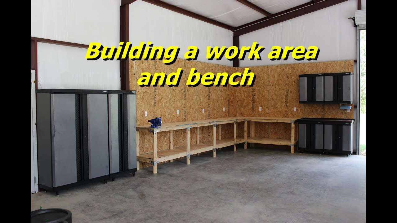 Building A Workbench And Work Area In My Garage YouTube