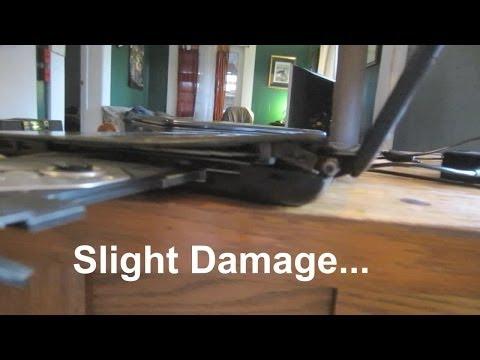 Acer Aspire Laptop Repair : Dropped. Serious Hinge & Drive Damage.