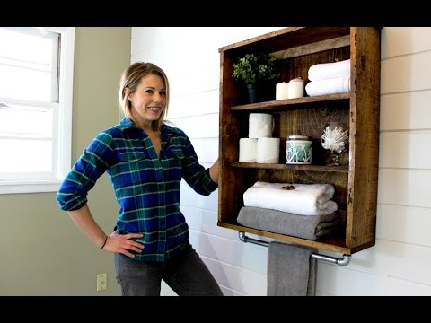 The $20 Rustic Bathroom Cabinet - Easy DIY Project