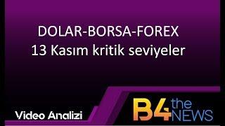 13 Kasım DOLAR-BORSA-FOREX  Kritik seviyeler