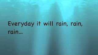 Bruno Mars - It Will Rain (Instrumental with on screen lyrics)