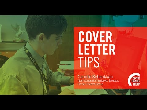 How To Apply For Jobs & Internships In The Arts: COVER LETTERS
