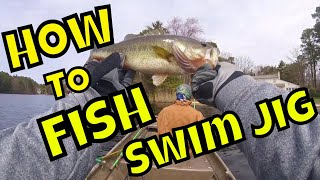 Marlton Lakes Bass Fishing Compilation Swim Jig Boat Flip Every FIsh