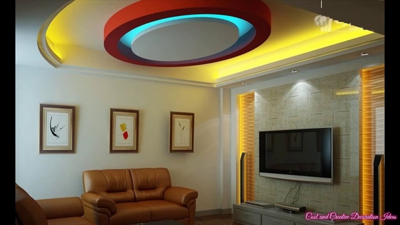 Pop Ceiling Designs with Lights Living Room YouTube