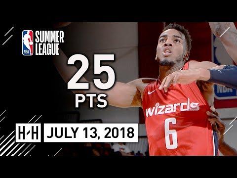 Troy Brown Jr. Full SL Highlights Wizards vs Mavericks (2018.07.13) - 25 Pts, 6 Reb