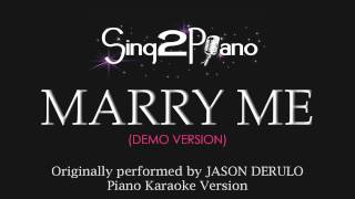 Marry Me (Piano Karaoke Version) Jason Derulo