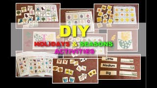 DIY Preschool Holidays & Seasons Activities Ep.3