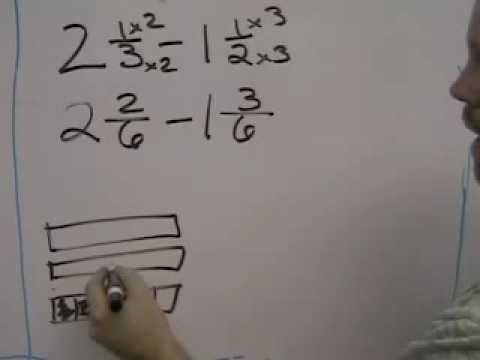 math worksheet : subtracting fractions requiring borrowing  youtube : Subtracting Fractions With Borrowing Worksheets