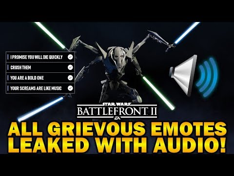 ALL GRIEVOUS EMOTES LEAKED WITH AUDIO! Star Wars Battlefront 2 thumbnail