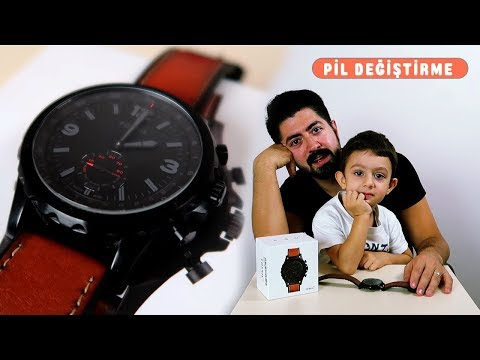 Fossil Q Nate Saat Pil Değiştirme | How To Replace The Fossil Q Nate Watch Battery