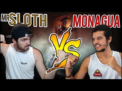 SLOTH VS MONAGUA - BATALHA ÉPICA ENTRE 2 NOOBS -  1