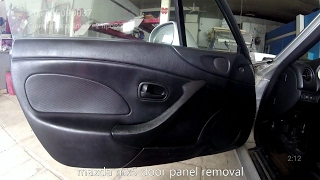 Mazda Mx 5 1998 2005 Door Panel Removal Youtube