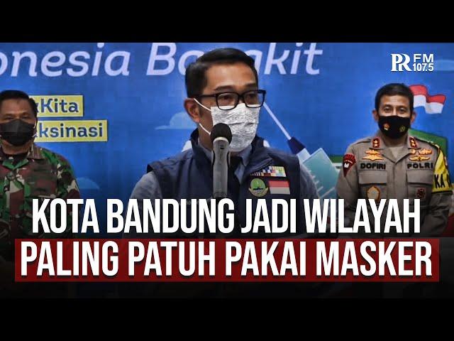 Gubernur Jabar Ridwan Kamil Sebut Warga Bandung Paling Patuh Protokol Kesehatan