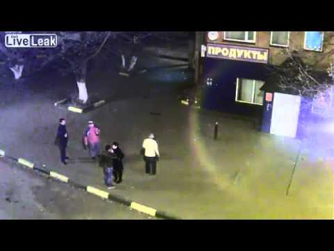 Crazy brawl in street Russia