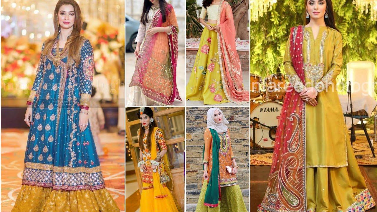 Download # Mehndi Dresses Design for Girls 2020/# Mayon Dresses Design/#2020 / Mehndi Dresses