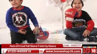 HomeShop18.com - Wonder Boy - Pack of 6 Cool Full Sleeve T-shirt by Eteenz