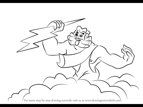 How To Draw Zeus From Fantasia