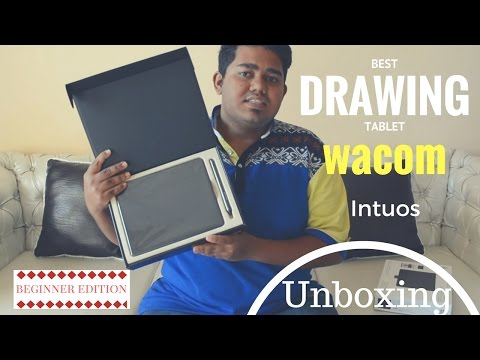Wacom Intuos creative Pen and Touch Tablet unboxing (best beginner drawing Tablet ) | Techapps