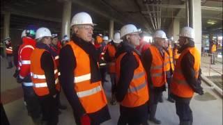 Metz visite du chantier de Muse