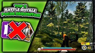 👉🎮Top 5 BEST FREE Battle Royale GAMES FOR LOW RESOURCES💻 [EsALES TO Pubg & Fortnite]