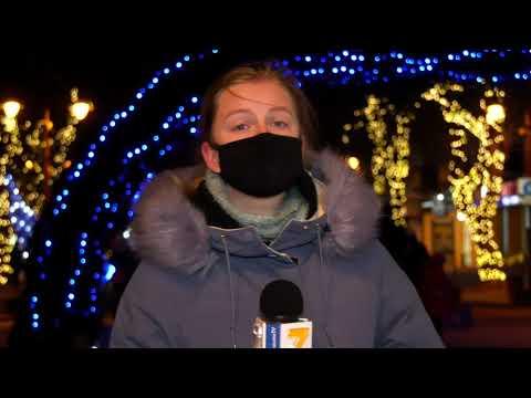 TV7plus Телеканал Хмельницького. Україна: ТВ7+. Новорічні прикраси, іграшки та смачні напої. У Хмельницькому працює зимовий ярмарок