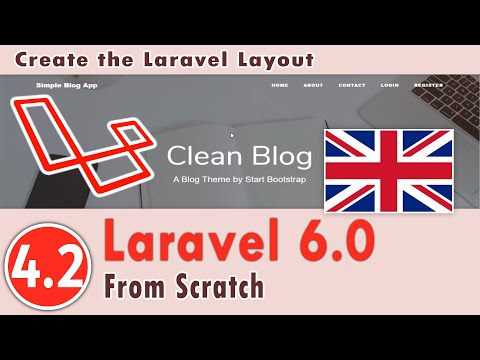 4.02 - Laravel 6.0 Course - Create Front End   Create The Laravel Layout