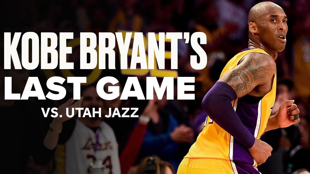 Look Back At Kobe Bryant's Last Game vs. Utah Jazz   April 13, 2016