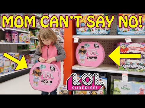 MOM CANT SAY NO! SHOPPING FOR L.O.L. SURPRISE #OOTD ADVENT CALENDAR!