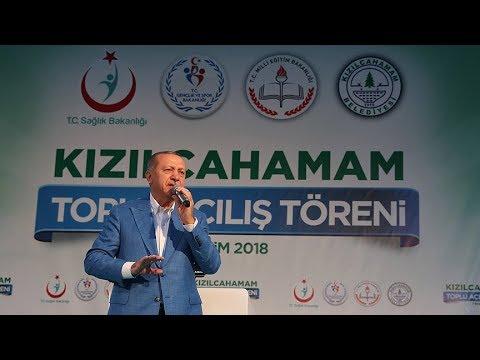 Cumhurbaşkanı Erdoğan Kızılcahamam'da...