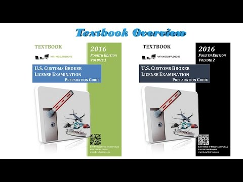Customs Broker License Exam Textbook's Fourth Edition Overview