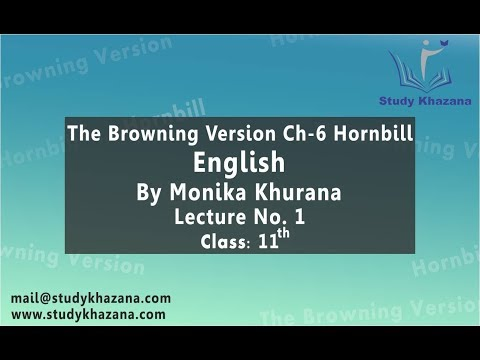 The Browning version, English By Monika Khurana