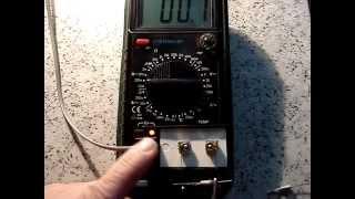 видео Приставка к мультиметру для проверки стабилитронов