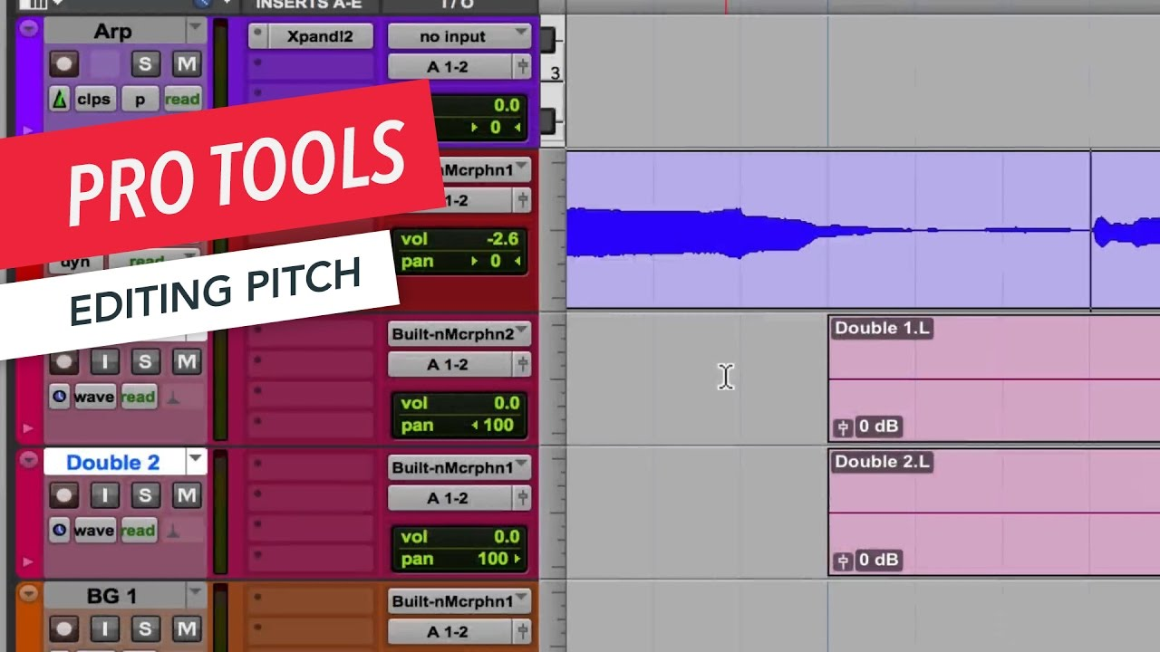 Pro Tools Editing Pitch Music Production Tips Tricks