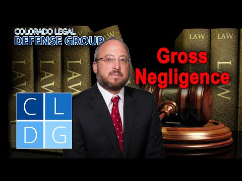 "What is ""gross negligence"" in Colorado personal injury cases?"