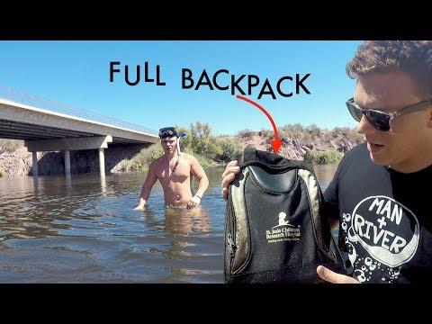 I Found a Full Backpack & iPhone X Submerged Underwater Beneath Bridge