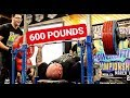 600 POUND COMPETITION BENCH PRESS!?