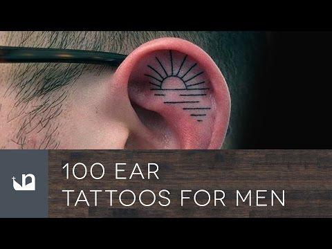 100 Ear Tattoos For Men