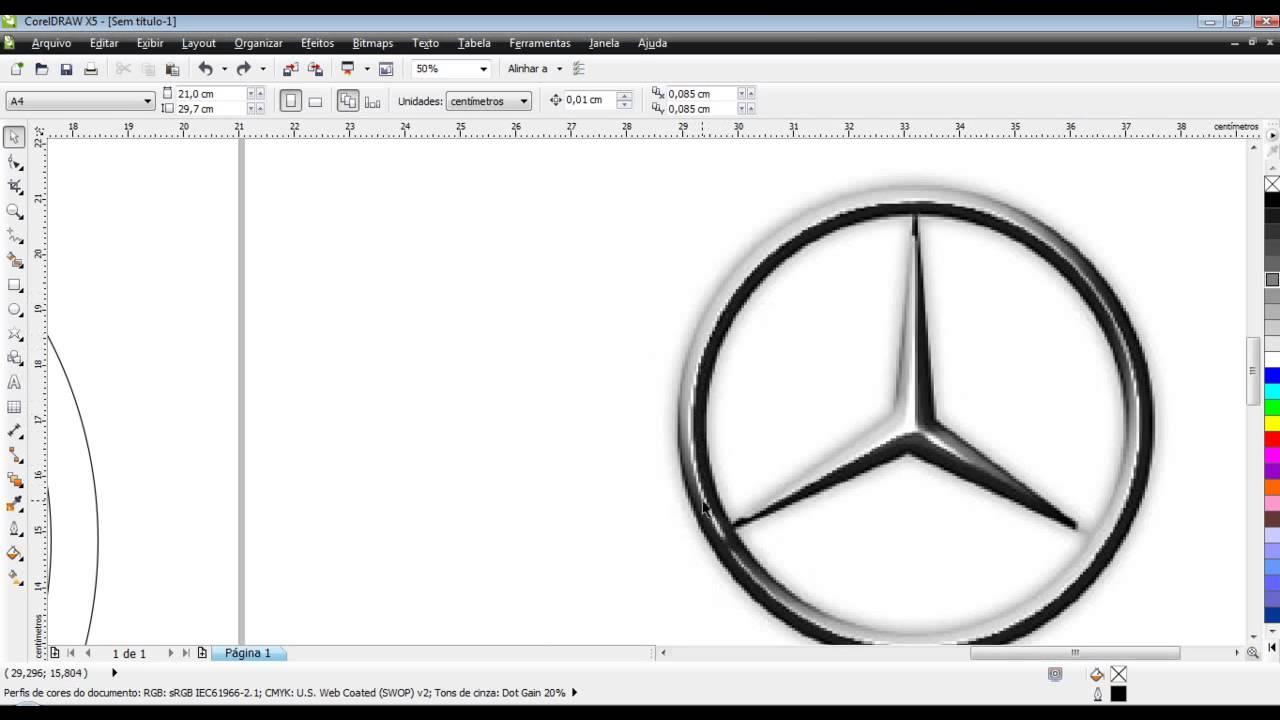 Curso de corel draw x5 aula 52 logo da mercedes benz youtube voltagebd Image collections