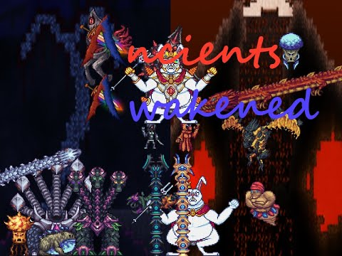 terraria Ancients Awakened mod all bosses showcase only