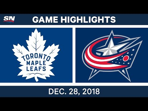 NHL Highlights | Maple Leafs vs. Blue Jackets - Dec 28, 2018