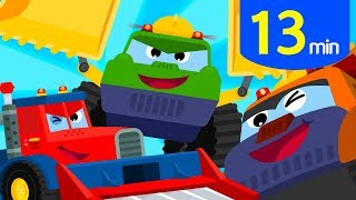 Best Mighty Car Songs 13m♪ | Police Car Tractor + | Tidi Songs for Children ★TidiKids
