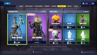 Fortnite Shop items for sale Thursday 1st November 2018 Updated after Update v6.21