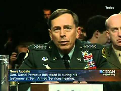 General Petraeus Faints Reptilian Shapeshifting - Reptilian McCain look stunned (Original Video)