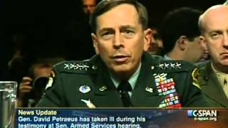 General Petraeus Faints Reptilian Shapeshifting - Reptilian McCain look stunned (Original Video)