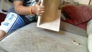 Homemade wooden fingerboard halfpipe Pt 1