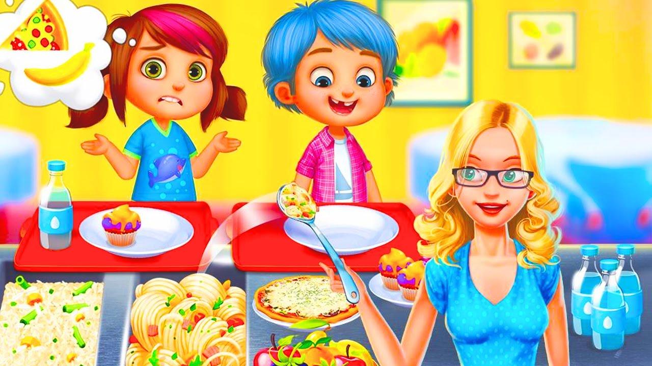 ИГРАЕМ В ШКОЛУ и УЧИТЕЛЯ развлекательная мультяшная игра для детей про школу My Teacher