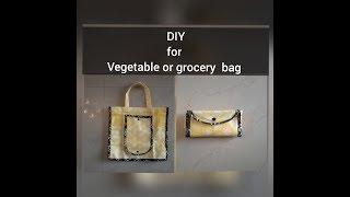 DIY for making vegetable or grocery bag