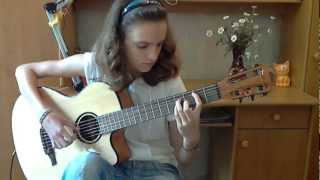 (White Lion) When The Children Cry - Alina Vlasova fingerstyle guitar cover