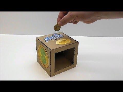 Как сделать из картона копилку фото 353